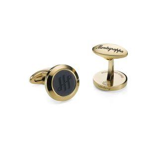 Μανικετόκουμπα Montegrappa Classico Ambigram Gold / Black