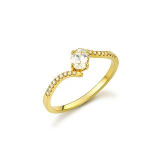 Δαχτυλίδι με λευκο ζαφειρι