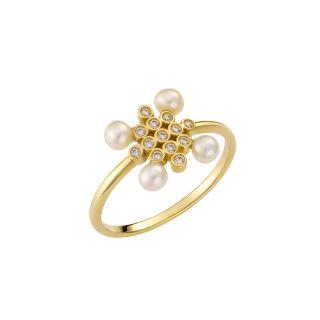 Δαχτυλίδι με μαργαριτάρια