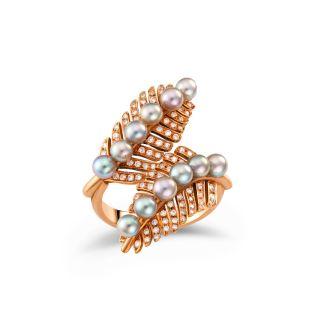 Δαχτυλίδι με μαργαριτάρι & διαμάντια