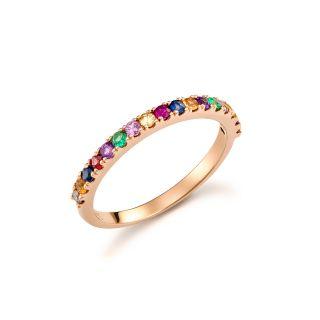 Δαχτυλίδι μισόβερο rainbow