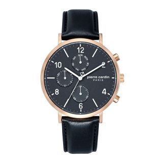 Pierre Cardin Rose Gold Leather Strap